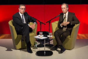 Norman Swan in conversation with Michael Marmot at the launch of the 2016 Boyer Lectures